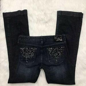 EXPRESS JEANS STELLA BOOT LEG WITH SEQUIN POCKETS